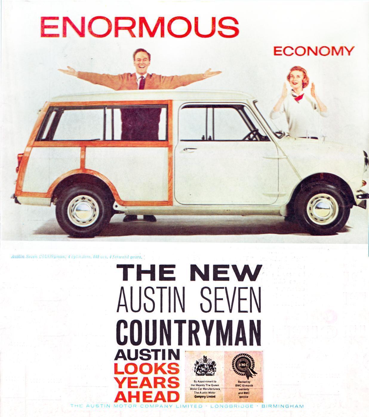 noleggio Austin Mini Countryman 1960